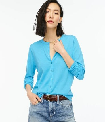 Casual Style Wool Long Sleeves Plain Medium Office Style