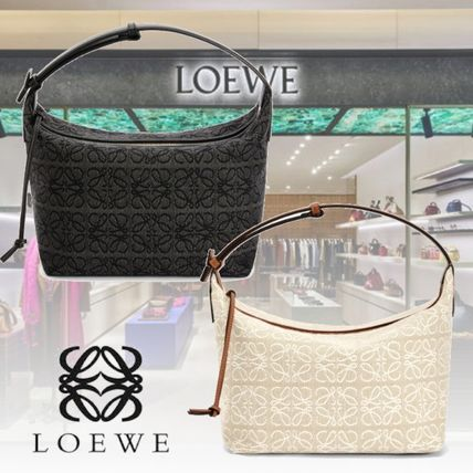 LOEWE Anagram Casual Style Leather Elegant Style Shoulder Bags