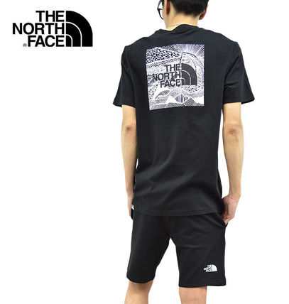 THE NORTH FACE Crew Neck Men'S Short Sleeve Red Box Tee 3