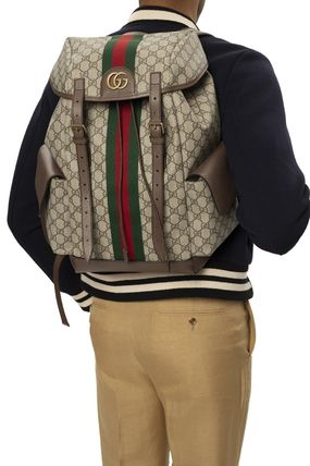 GUCCI Ophidia Unisex Street Style A4 2WAY Logo Backpacks