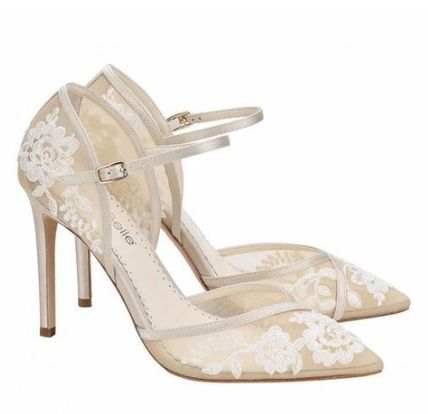 Silk Handmade Lace Bridal Shoes