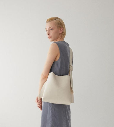 Casual Style A4 Plain Office Style Elegant Style Totes
