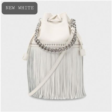 Casual Style Studded 2WAY Chain Plain Leather Party Style