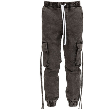 LAKENZIE Denim Street Style Plain Cotton Joggers Jeans