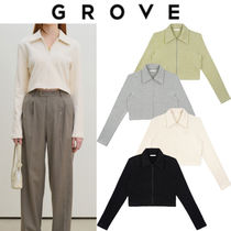 GROVE Casual Style Street Style Outerwear