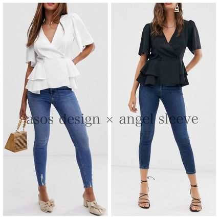 Casual Style Short Sleeves Office Style Elegant Style