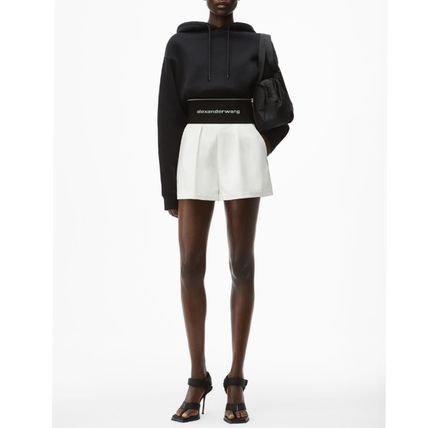 Alexander Wang Short Casual Style Cotton Logo Denim & Cotton Shorts