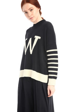 Diffusione Tessile Logo Cable Knit Casual Style Cotton Sweaters