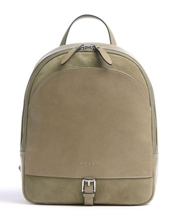 Logo Casual Style Plain Leather Khaki Backpacks