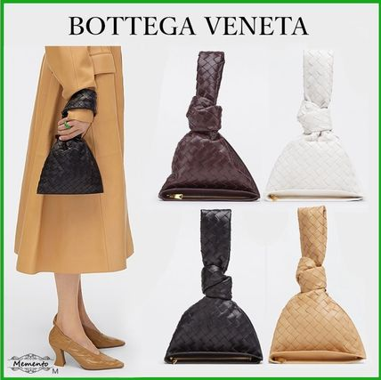 BOTTEGA VENETA BV TWIST Casual Style Plain Leather Party Style Elegant Style Bridal