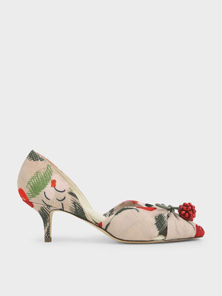 Charles&Keith Formal Style  Bridal Flower Patterns Tropical Patterns