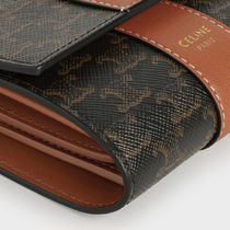 CELINE Tri Fold Small Trifold Wallet In Triomphe Canvas And Lambskin