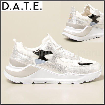 Logo Platform Rubber Sole Casual Style Leather Street Style