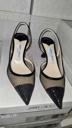 Jimmy Choo Casual Style Leather Block Heels Party Style Office Style