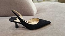 Jimmy Choo Casual Style Suede Plain Block Heels Party Style