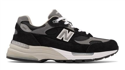 New Balance 992 Plain Toe Rubber Sole Casual Style Unisex Suede Street Style