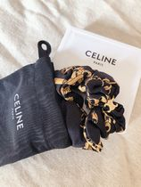 CELINE Scrunchy Casual Style Party Style Office Style Elegant Style