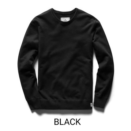 Crew Neck Pullovers Sweat Street Style Long Sleeves Plain