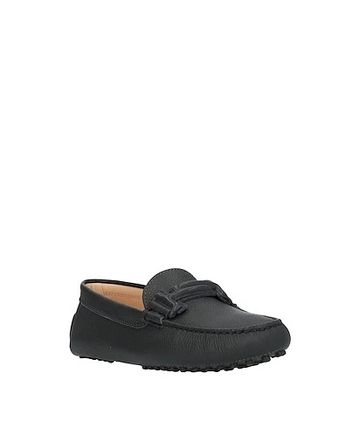 TOD'S Round Toe Casual Style Plain Leather Party Style