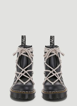 RICK OWENS Collaboration Leather Engineer Boots