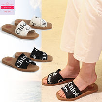 Chloe Casual Style Slippers Logo Sandals