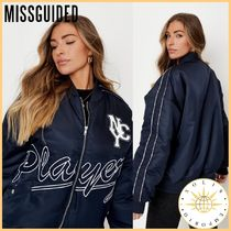 Missguided Casual Style Street Style Medium MA-1 Souvenir Jackets