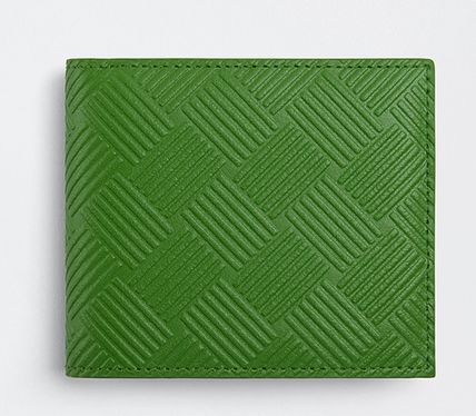 BOTTEGA VENETA Calfskin Leather Folding Wallet Logo Folding Wallets