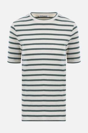 Jil Sander Crew Neck Short Stripes Cotton Medium Short Sleeves Cropped