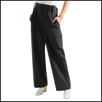 The Row Casual Style Wool Street Style Plain Office Style Culottes