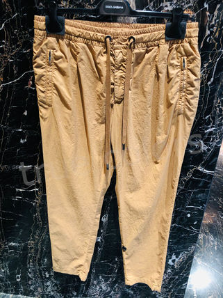 Dolce & Gabbana Tapered Pants Street Style Plain Cotton Tapered Pants