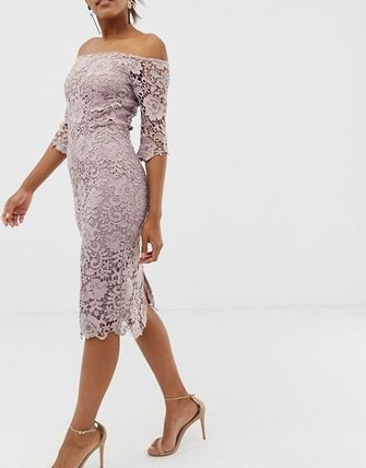 Tight Cropped Medium Party Style Lace Dresses