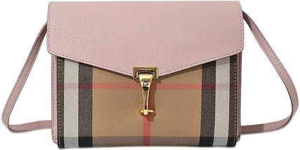 Burberry Canvas Crossbody Formal Style  Logo Other Plaid Patterns