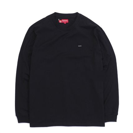 Supreme Long Sleeve Crew Neck Pullovers Unisex Street Style Long Sleeves Cotton 3
