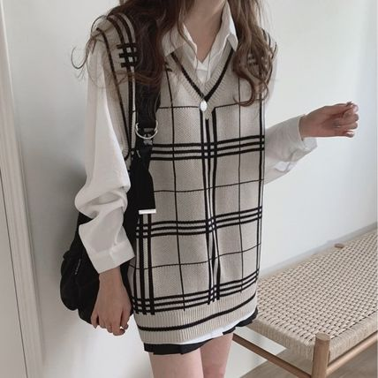 Other Plaid Patterns Tartan Casual Style Medium Office Style