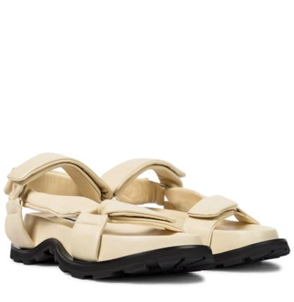 Jil Sander Open Toe Round Toe Casual Style Plain Leather Sport Sandals