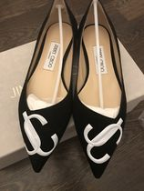 Jimmy Choo Casual Style Suede Bi-color Plain Party Style Office Style