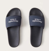Abercrombie & Fitch Shower Shoes Logo Sports Sandals