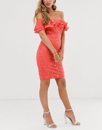 Tight Medium Party Style Lace Dresses