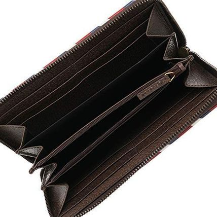GUCCI GG Supreme Unisex Street Style Leather Logo Long Wallets