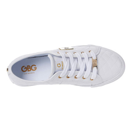 G BY GUESS Round Toe Lace-up Casual Style Logo Low-Top Sneakers