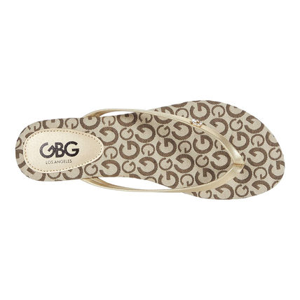 G BY GUESS Open Toe Casual Style Logo Sandals