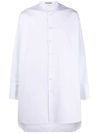 Jil Sander Designers Long Sleeves Plain Cotton Band-collar Shirts