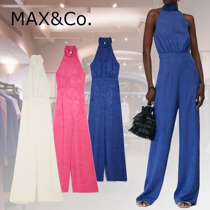 Max&Co. Casual Style Sleeveless Halter Neck Plain Party Style