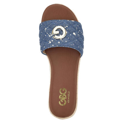 G BY GUESS Casual Style Logo Heeled Sandals