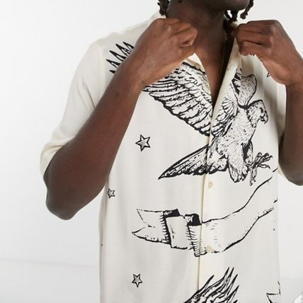 ALLSAINTS Shirts Unisex Street Style Short Sleeves Logo Front Button Shirts 2