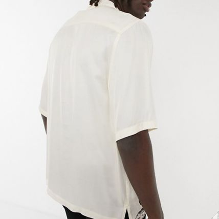 ALLSAINTS Shirts Unisex Street Style Short Sleeves Logo Front Button Shirts 3