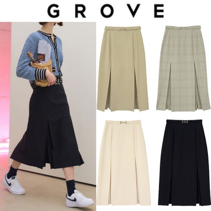 Casual Style Office Style Elegant Style Formal Style  Skirts
