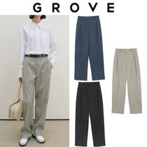 GROVE Casual Style Office Style Elegant Style Formal Style  Pants