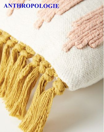 Anthropologie Morroccan Style Tassel Fringes Decorative Pillows