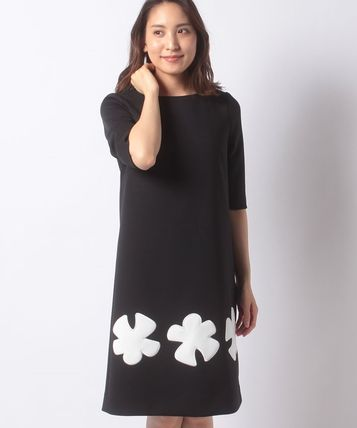 pierre cardin Flower Patterns Casual Style A-line Blended Fabrics Cropped